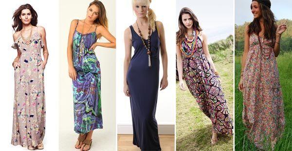 maxidress com colar Combinações com vestido longo