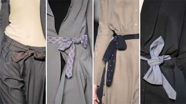 detalhe gravata cintura Gravata na cintura