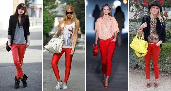 calça vermelha modelo2 Calça vermelha é a peça da vez