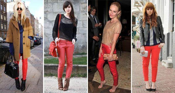 calça vermelha modelo3 Calça vermelha é a peça da vez