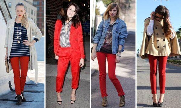 calça vermelha modelo41 Calça vermelha é a peça da vez