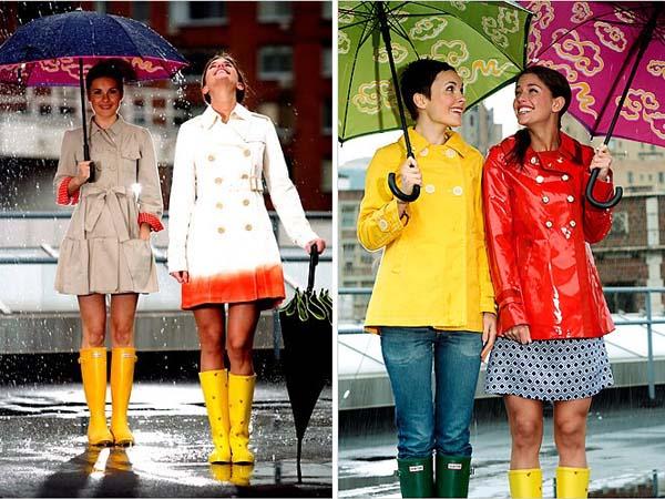 como se vestir em dia chuva modelo1 Dicas para se vestir em dia chuvoso de verão