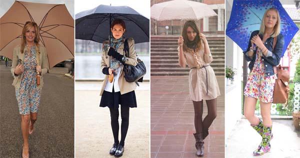 como se vestir em dia de chuva modelo2 Dicas para se vestir em dia chuvoso de verão
