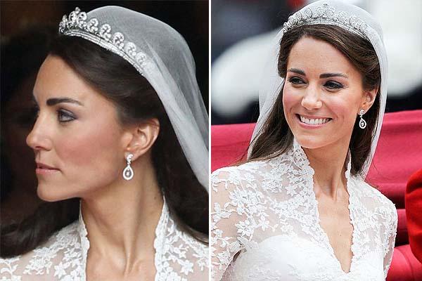 brinco kate middleton O vestido de noiva de Kate Middleton