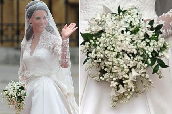 buque kate middleton O vestido de noiva de Kate Middleton