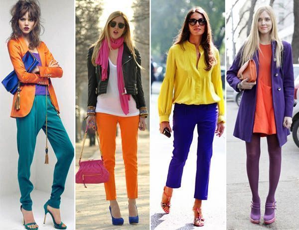 color blocking modelo1 Moda color blocking