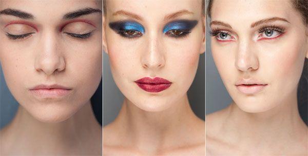 tendência maquiagem inverno mauqiagem colorida delineada Maquiagem para o inverno 2011