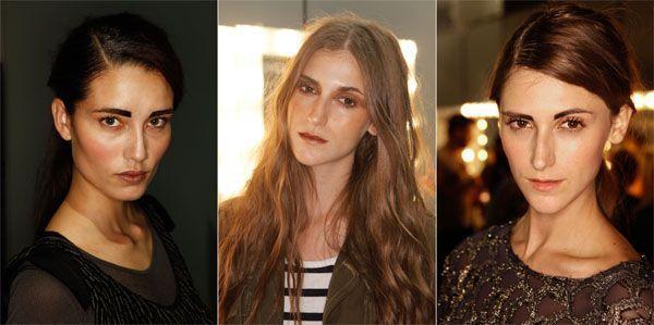 tendência maquiagem inverno sobrancelha marcada Maquiagem para o inverno 2011