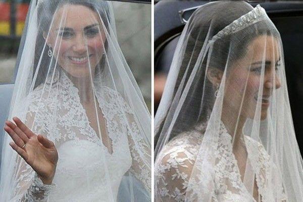 veu kate middleton O vestido de noiva de Kate Middleton