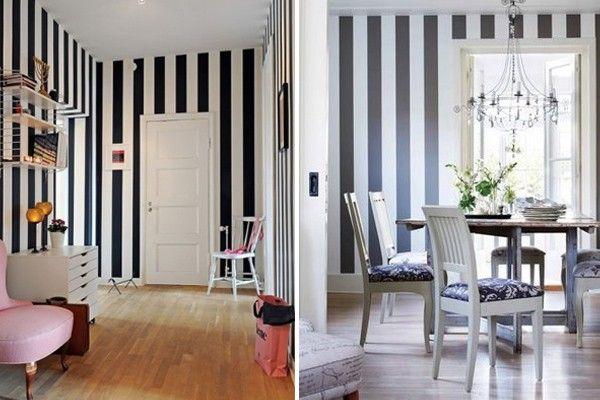 Como usar listras corretamente na decoração de um ambiente  ~ Quarto Riscas Cinza
