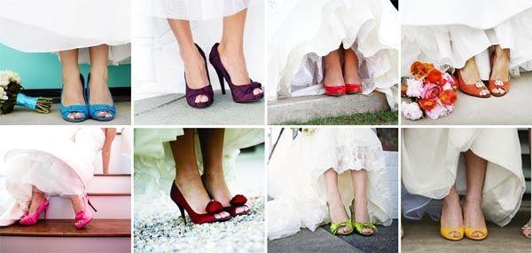 Casar de sapato colorido 2
