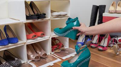 Como organizar sapatos: tutoriais e 50 ideias simples que funcionam