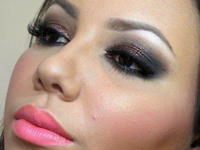 Maquiagem para formatura rosa e preta