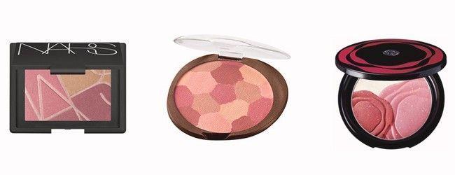 Soul Shine NARS por R$175 na Sephora | Aquarela rosado por R$31,80 na Natura | Camellia Shiseido por R$250 na Beleza na Web