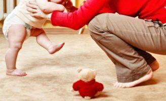 Os primeiros passos do bebê
