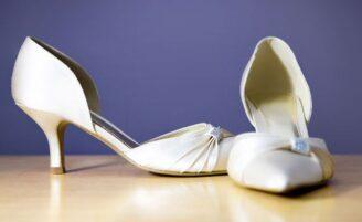 Sapatos baixos para noivas