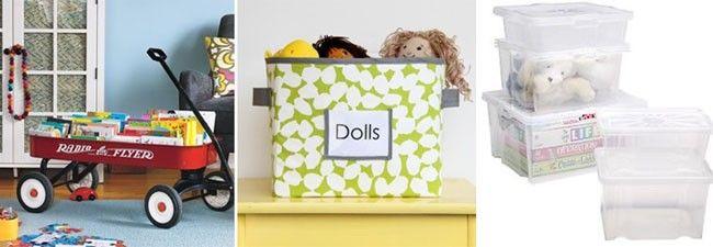 caixas Ideias para manter brinquedos e pertences das crianças em ordem