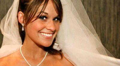 Dentes brancos para o dia do casamento