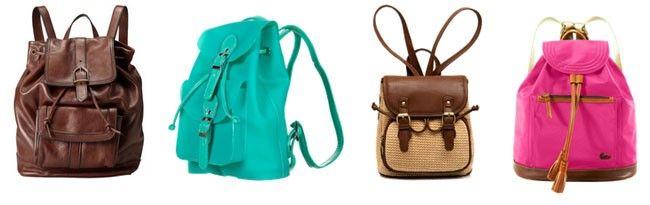 mochila Tipos de bolsas femininas