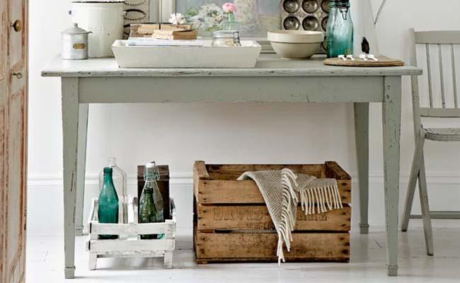 Caixotes de madeira na decoração  Dicas de Mulher -> Banheiro Decorado Com Material Reciclado