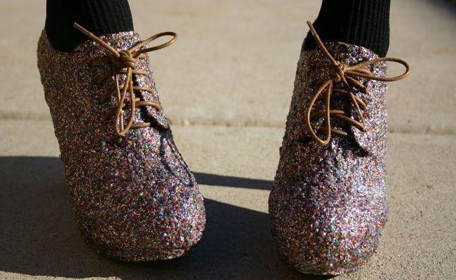como usar sapatos com glitter Como usar sapatos com glitter