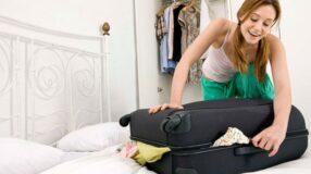 O que devo colocar na mala para uma viagem longa?