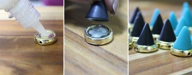 pulseira spike passo1 Passo a passo de como fazer pulseira de spikes e tachas