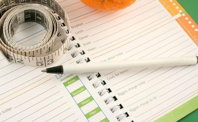 mantenha um diario alimentar para perder peso Mantenha um diário alimentar para perder peso