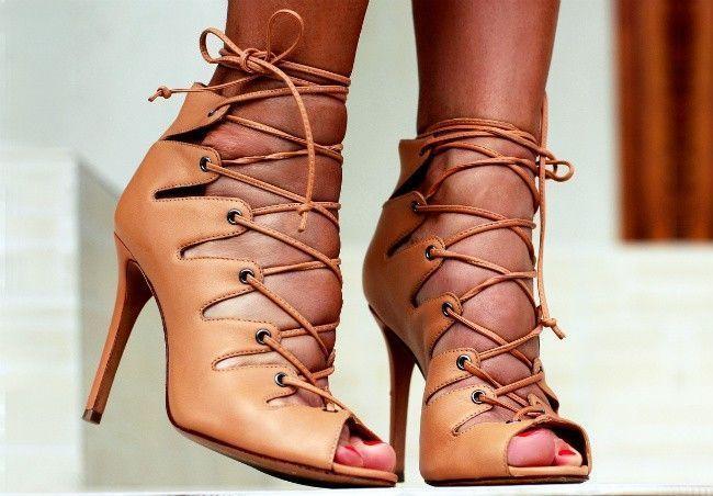 Sandálias de Salto Gladiadora Sandália Gladiadora Como Usar