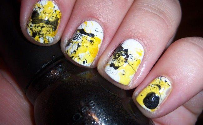 unhas splatter sao a novidade em unhas decoradas Unhas splatter são a novidade em unhas decoradas