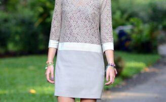 Como usar vestido reto