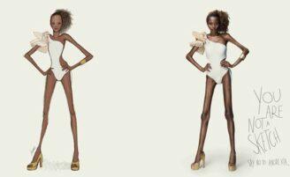 Campanha mostra como seriam as modelos se elas fossem iguais aos croquis