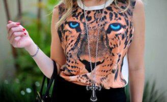 Animal face: a tendência das roupas com estampa de rosto de animais