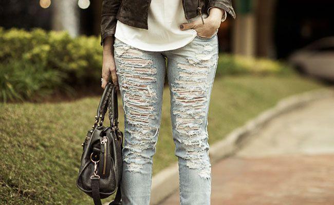 631f9dbfb Jeans destroyed  como usar o jeans destruído no look - Dicas de Mulher