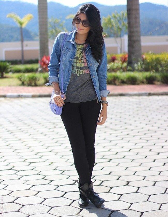 a40c5bfa4838 Resultado de imagem para fotos de blogueiras usando looks com jaqueta