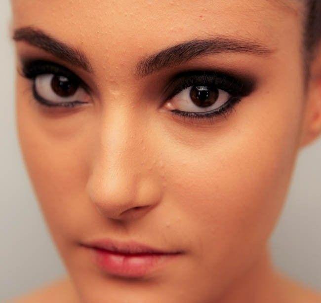 olho esfumado preto blog do pro Maquiagem preta: o esfumado escuro queridinho das mulheres
