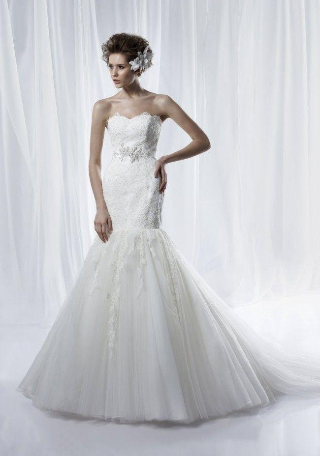 7d20a35d4d35 Foto  abiti da sposa senza spalline