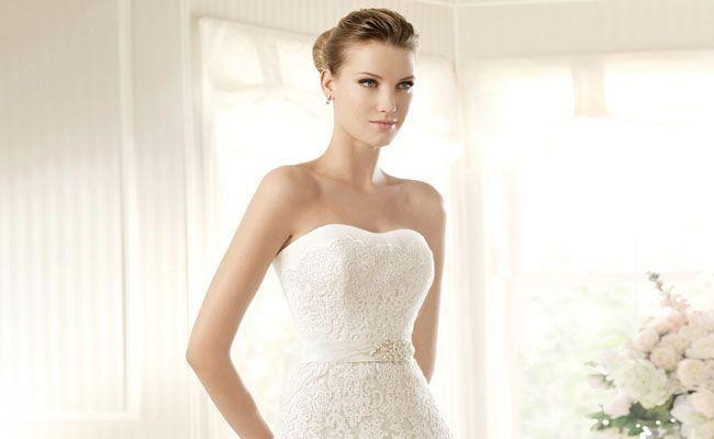 Vestido de casamento curto para o dia