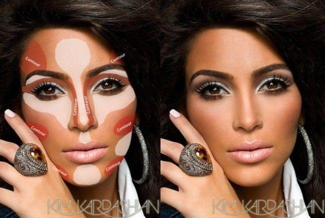 contorno kim kardashian Contorno facial: evidencie os melhores traços do rosto com maquiagem