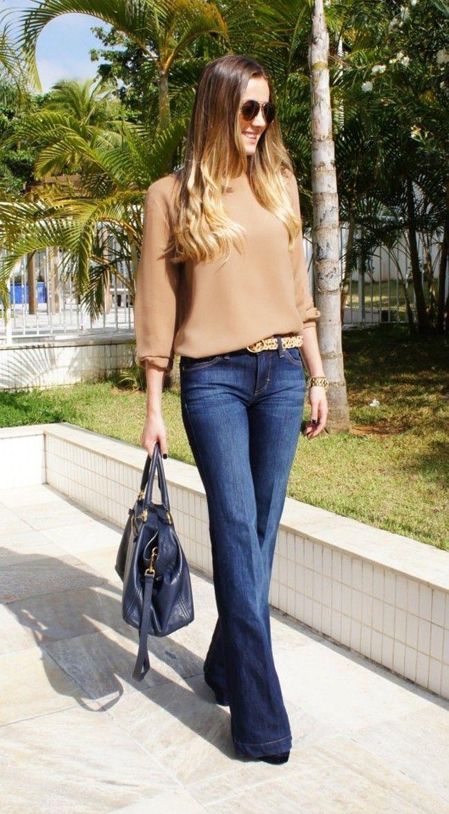 look 7 jeans flare camisa Como transformar looks básicos: 10 ideias fáceis de seguir