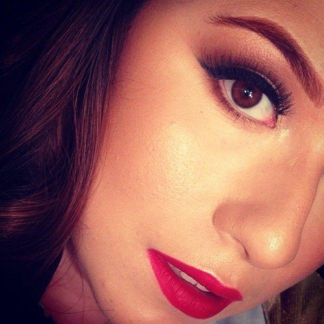 maquiagem batom vermelh brigitte calegari Como usar batom vermelho: o poder da maquiagem com lábios vermelhos
