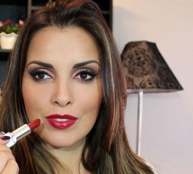 maquiagem batom vermelho juliana balduino Como usar batom vermelho: o poder da maquiagem com lábios vermelhos