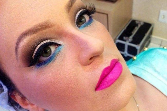 maquiagem colorida brigitte calegari Maquiagem colorida: saiba como combinar as cores no make