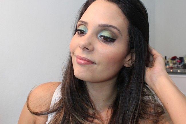 maquiagem colorida claudinha stoco Maquiagem colorida: saiba como combinar as cores no make