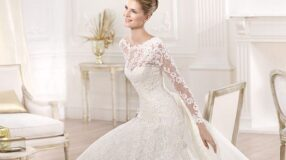 Vestidos de noiva de manga longa: opção elegante para mulheres cheias de estilo