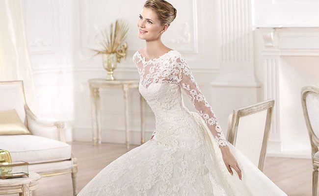 26b40836f Vestidos de noiva de manga longa  ideais para mulheres elegantes