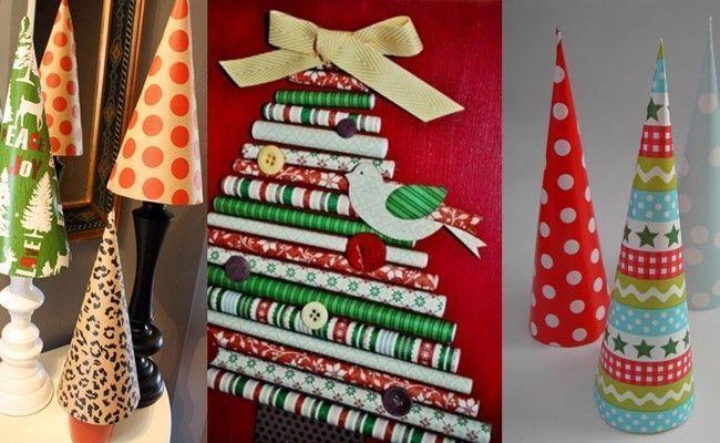 decorar uma arvore de natal : decorar uma arvore de natal:arvore de natal papel presente Como montar e decorar uma árvore de