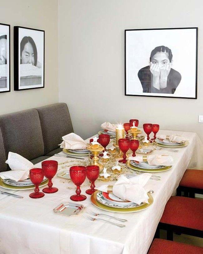 Como decorar a mesa para o Natal dicas e sugestões para inspirar Dicas de Mulher -> Decoração De Natal Para Mesa Quadrada