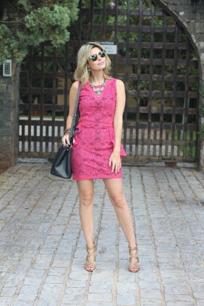 look com vestido de renda 1 Vestido de renda: opção delicada para os mais variados looks
