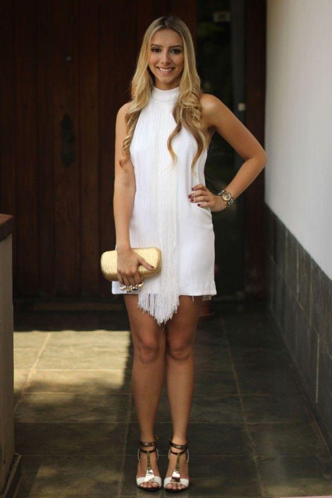 Scarpin prata e vestido - 4 2